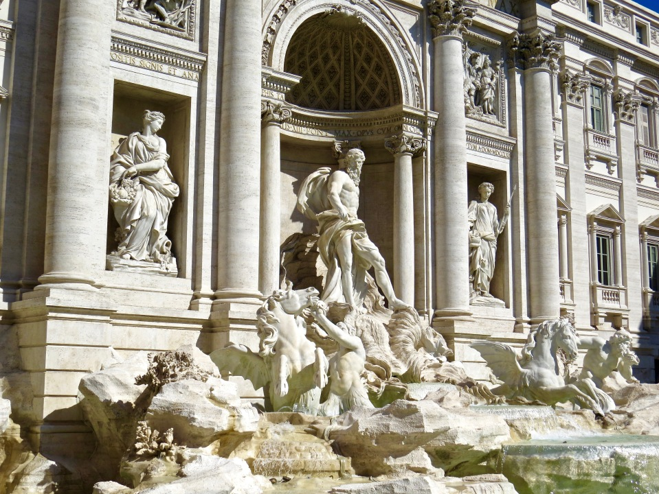 The world famous Trevi Fountain.