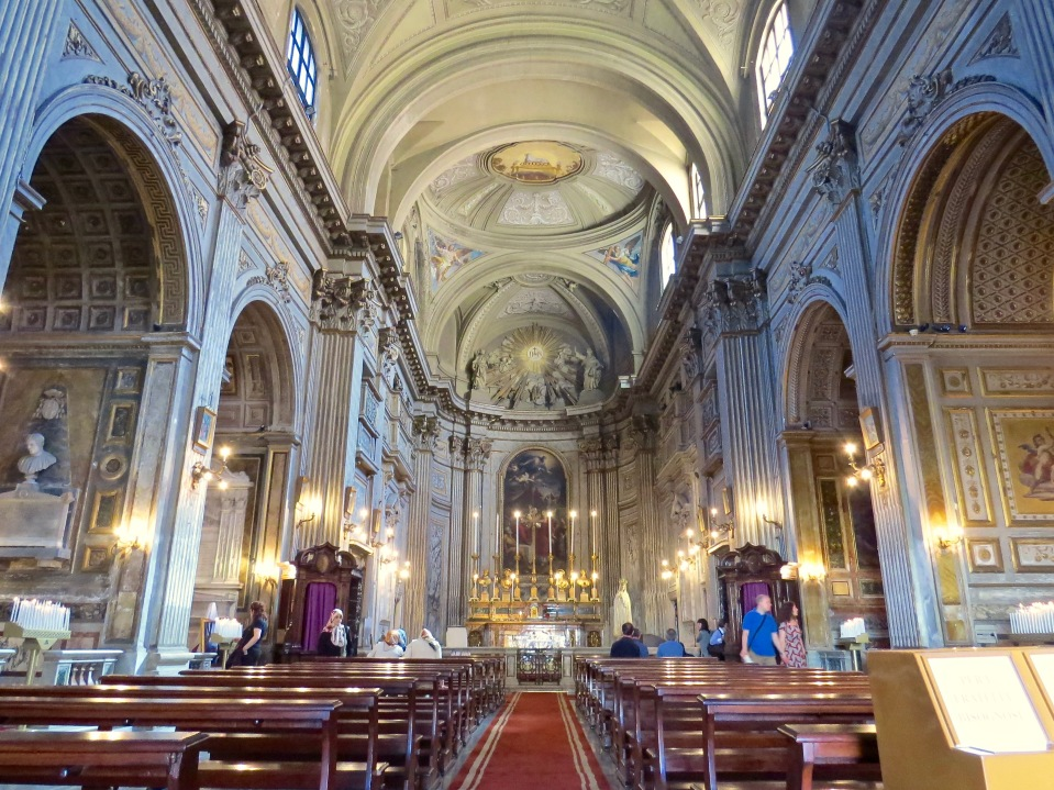 The Interior of Santi Vincenzo e Anastasio a Trevi.