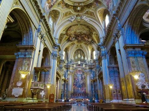 The Interior of Basilica dei SS. XII Apostoli.