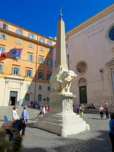 Bernini's Elephant and Obelisk.