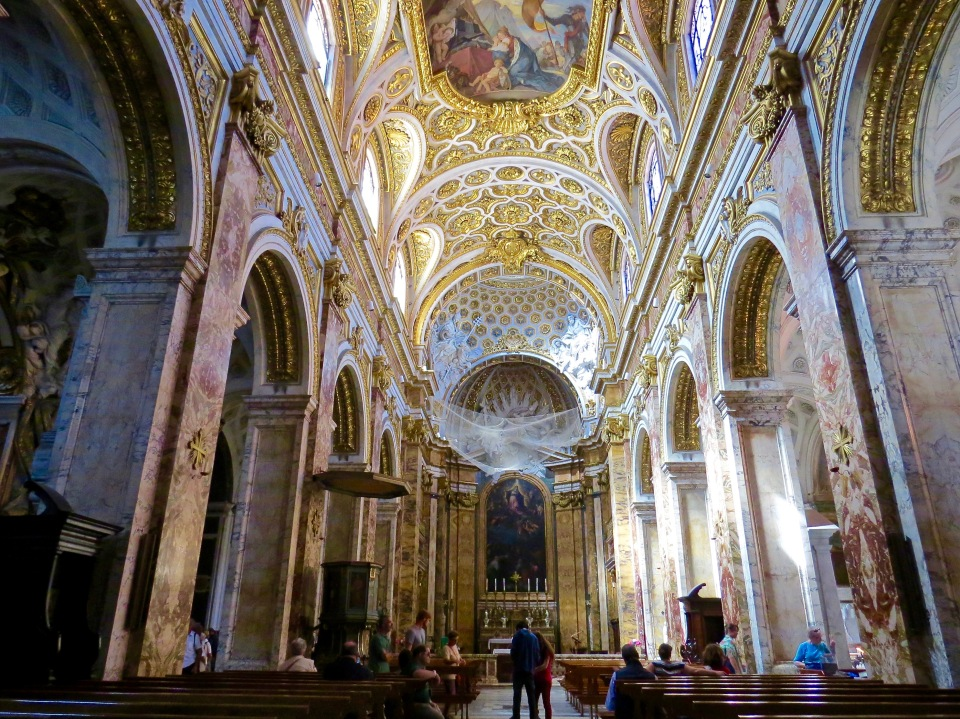 The Interior of Chiesa San Luigi dei Francesi.