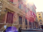 The sun casting its rays on the Palazzo Madama.