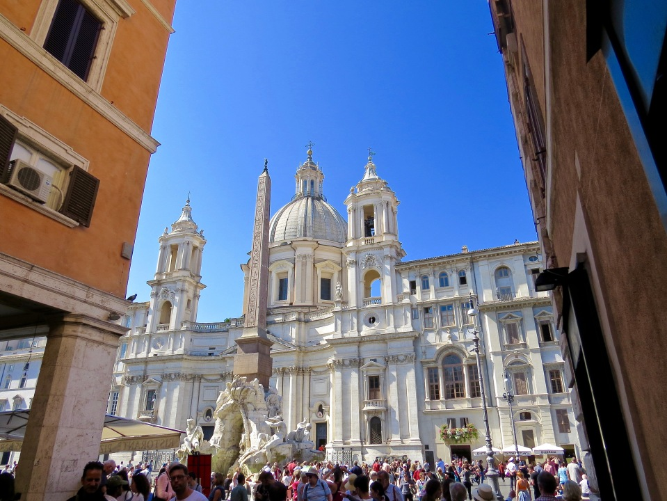 Entering the Piazza Navona.
