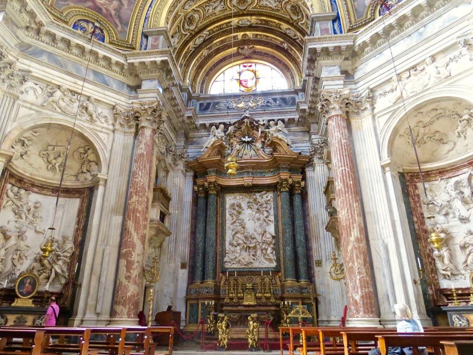 The Interior of Chiesa di Santi' Agnese in Agone.