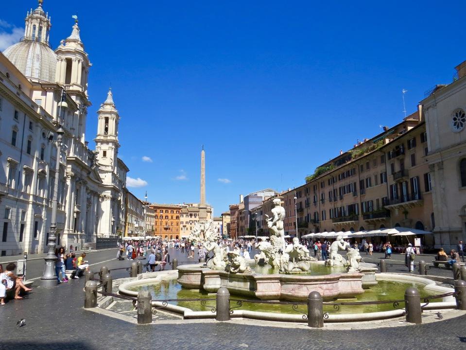 The historic Piazza Navona.
