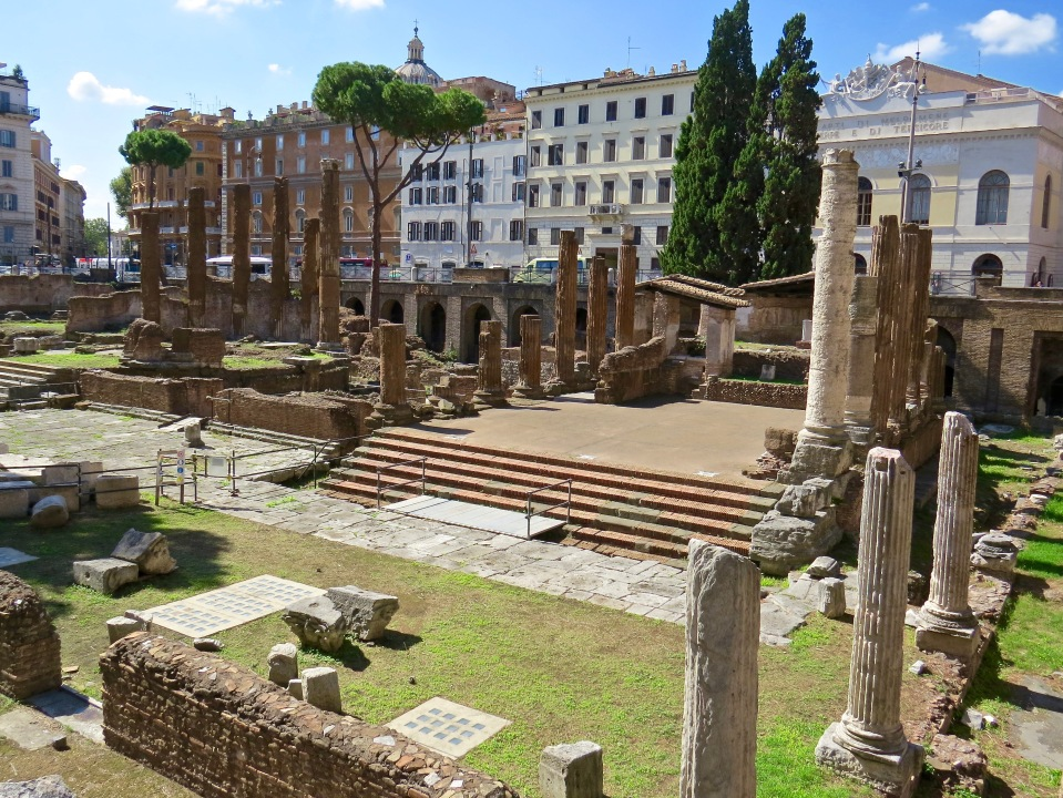 Sacred area del Argentina- Believed to be the site of Julius Ceasar's assassination.