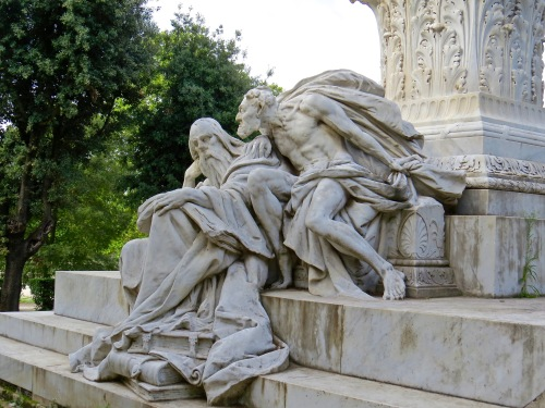 Mephistopheles and Faust - part of the Monument to Goethe by Gustav Eberlein.