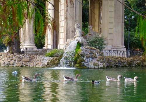 A peaceful scene at Temple of Aesculapius in Villa Borghese.