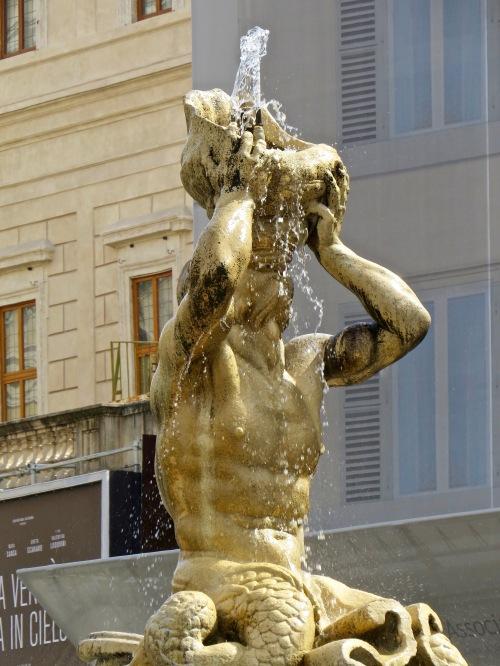 We found Bernini's Triton Fountain in Piazza Barberini.
