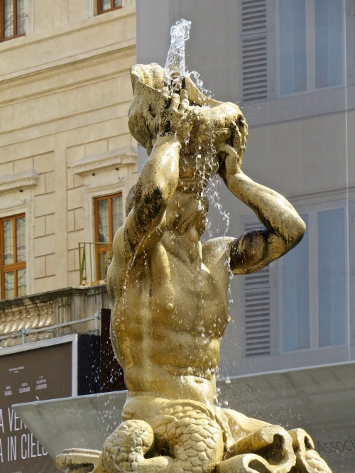 We found Bernini's Triton Fountain in Piazza Barberini.