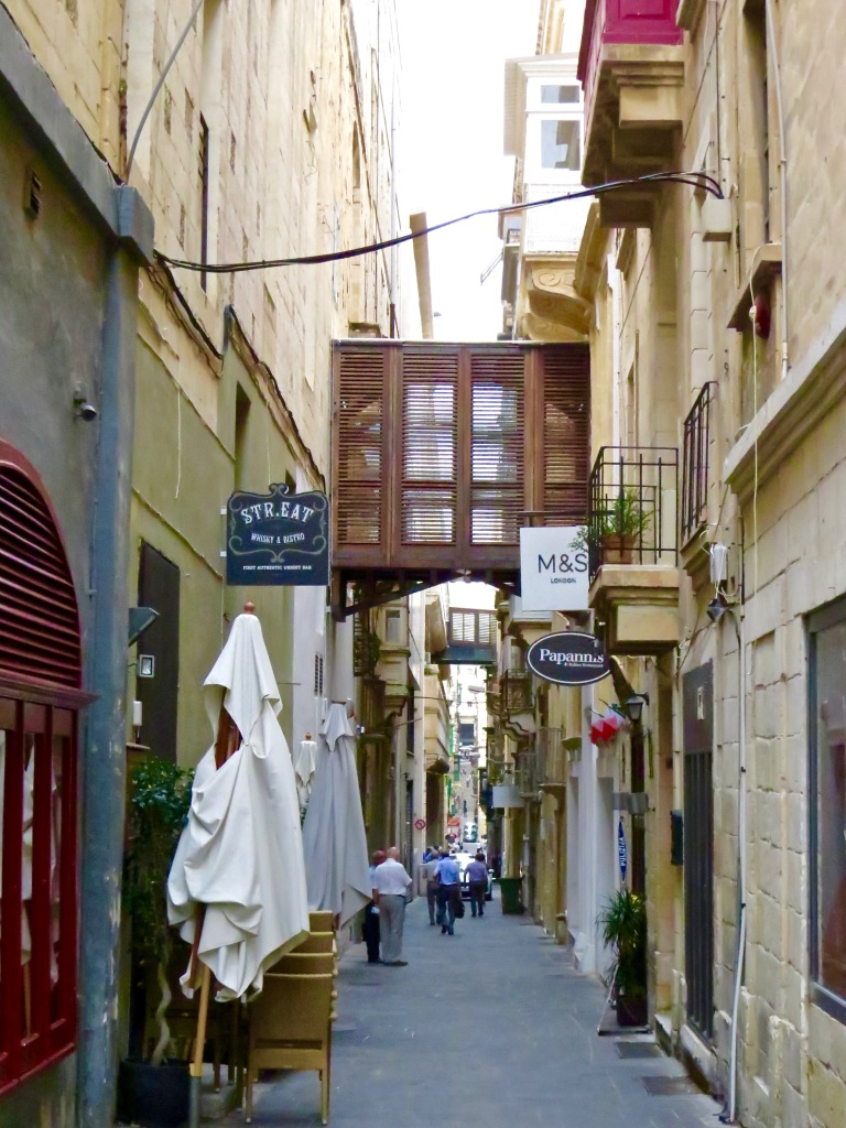 Malta's most famous street, Strait Street.