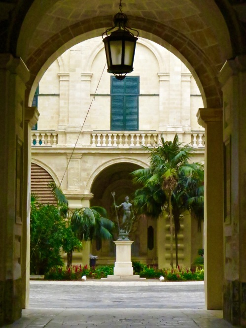 Looking into the courtyard of the Grandmaster's Palace.