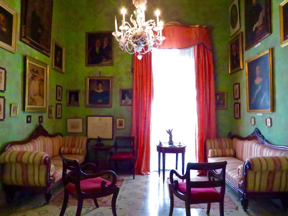 The Green Room in Casa Rocca Piccola.