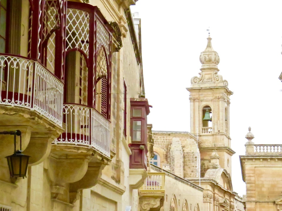 Exploring the walled city of Mdina.