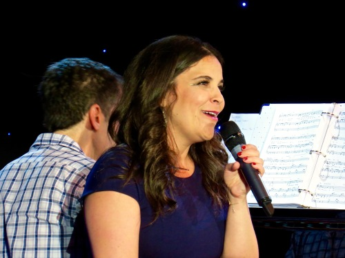 Lindsay Mendez with Seth Rudetsky on the piano.
