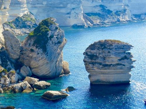 The rocky coast of Corsica.