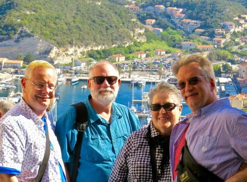 Michael, George, Mary and I in Bonifacio.