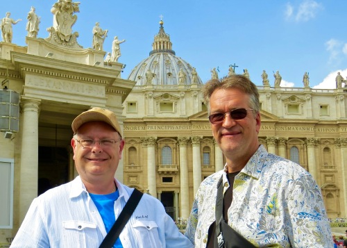Michael and I in St. Peter's Square.