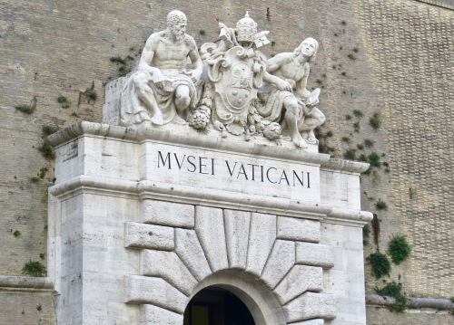 Above the entrance to the Vatican Museum.