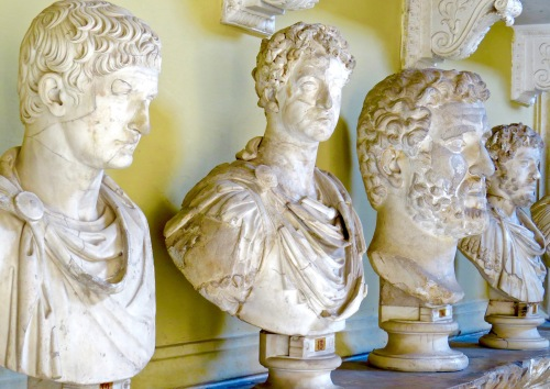 Marble Busts in the Vatican Museum.