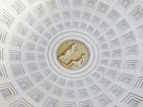 Domed Ceiling in the Vatican Museum.