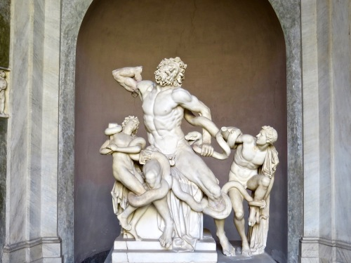 Laocoon and His Sons excavated in Rome, 1506.