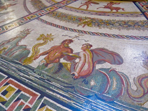 Incredible detail in this Mosaic Floor.