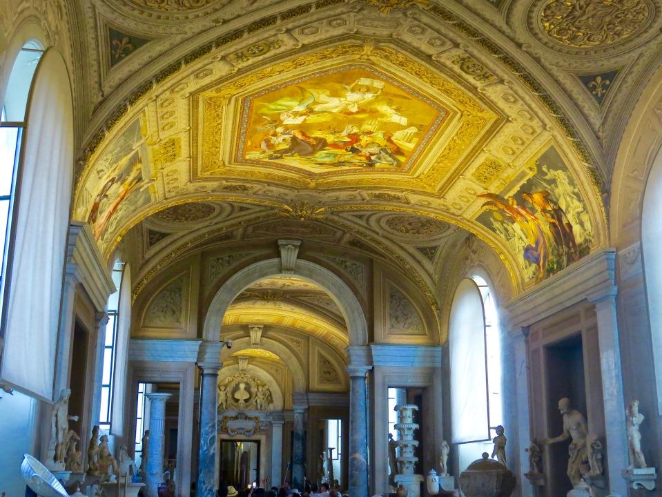 Inside the Vatican Museum.