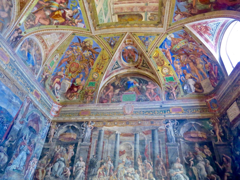 Inside on of the four Raphael Rooms.