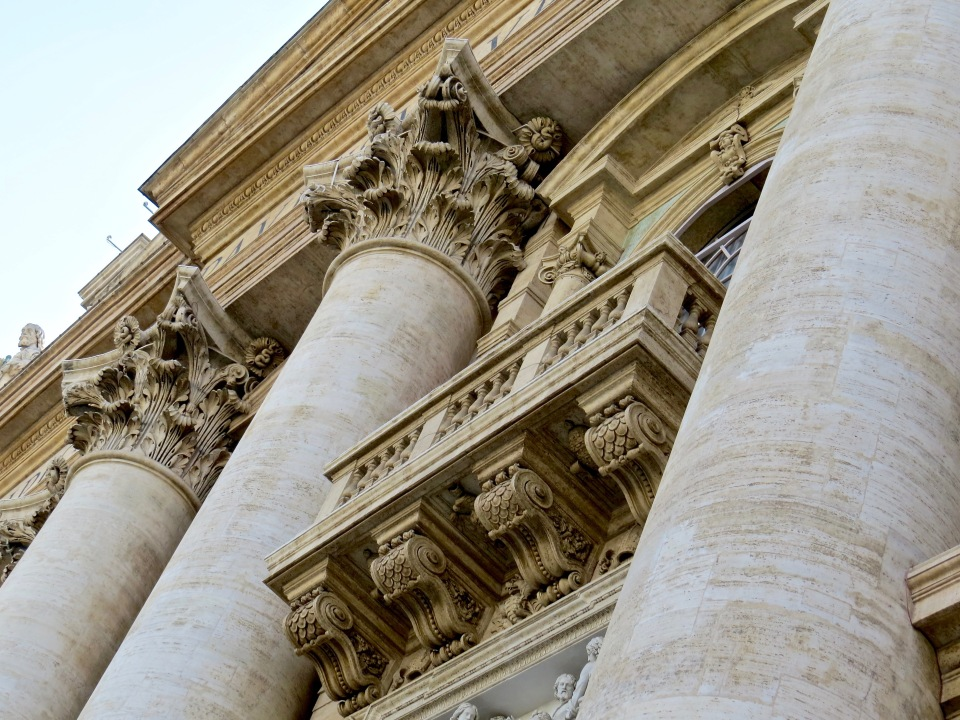 The famous Popes Balcony at St. Peter's Basilica.