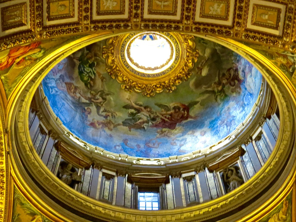 Dome inside St. Peter's Basilica.