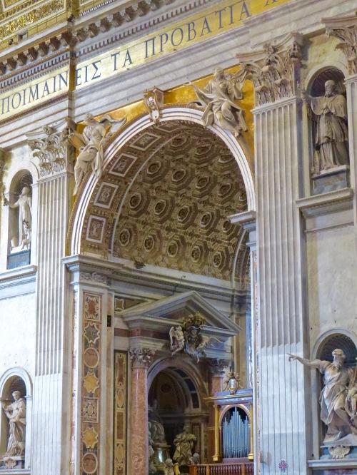 Inside St. Peter's Basilica.
