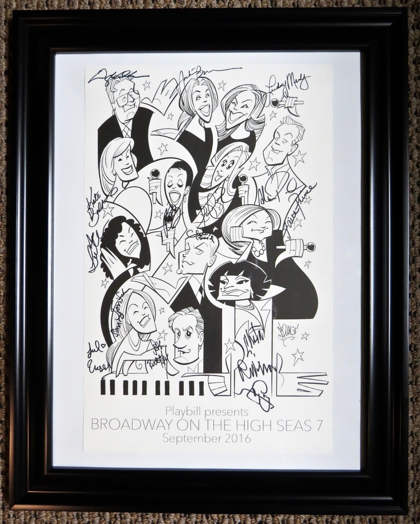 Our framed, autographed poster from Broadway On the High Seas 7.