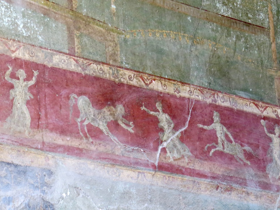 Close of of surviving wall art.