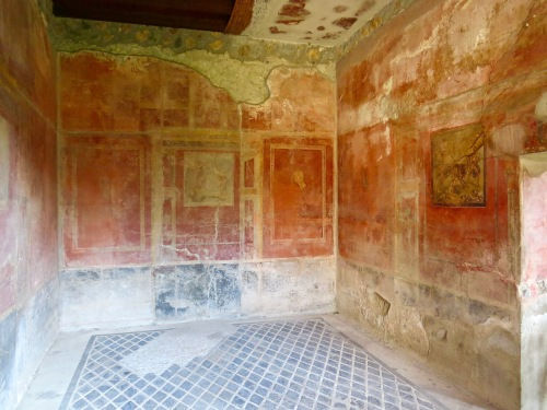 One of the more complete, excavated rooms in Pompeii.