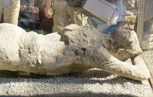 Plaster Cast of one of the victims.