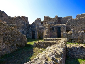 Ruins of the ancient city of Pompeii