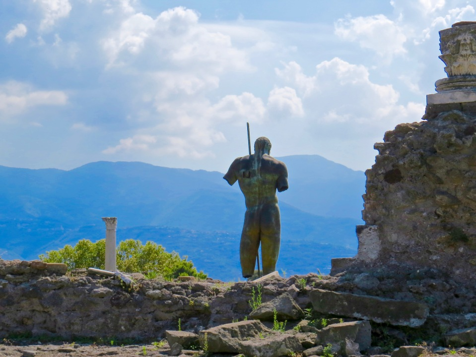 Standing guard over the ruins of Pompeii.