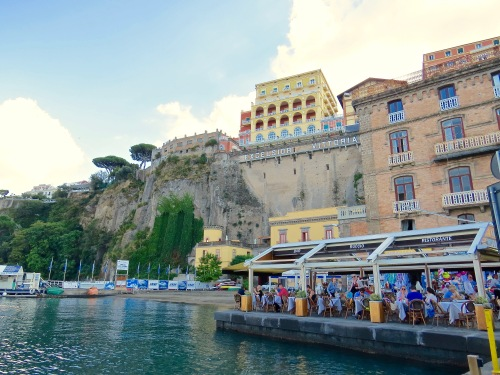 At the port in Sorrento.