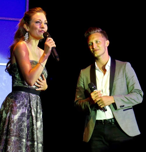 Laura Osnes with husband Nathan Johnson.