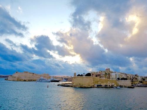 Sailing into Grand Harbour, Valletta, Malta.